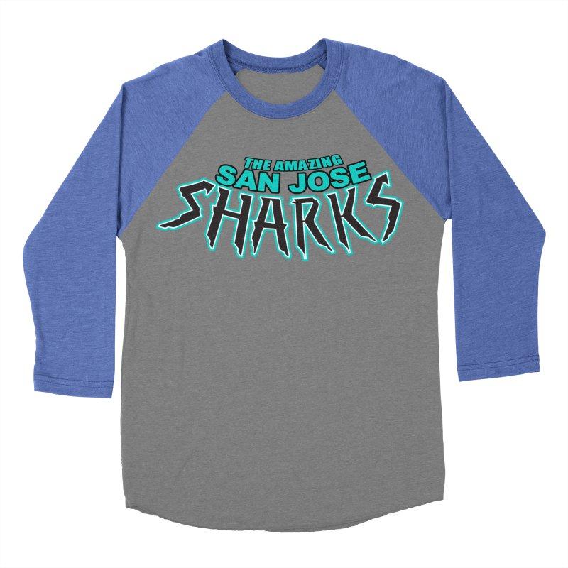 Friendly Neighborhood Sharks Women's Baseball Triblend Longsleeve T-Shirt by Mike Hampton's T-Shirt Shop