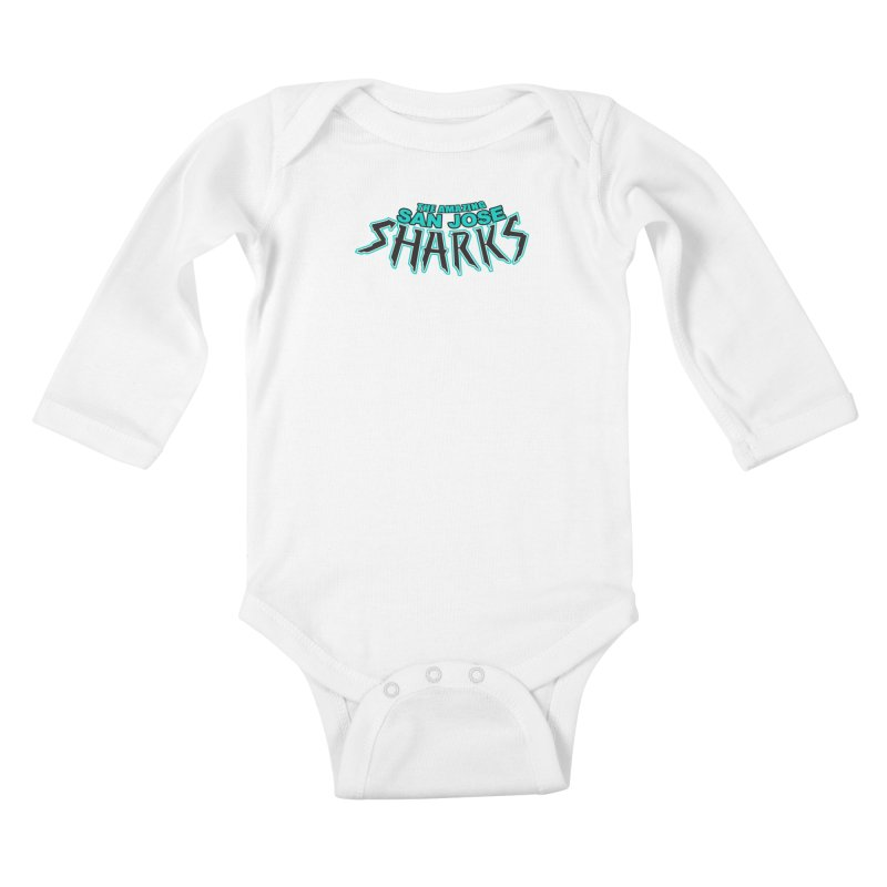 Friendly Neighborhood Sharks Kids Baby Longsleeve Bodysuit by Mike Hampton's T-Shirt Shop