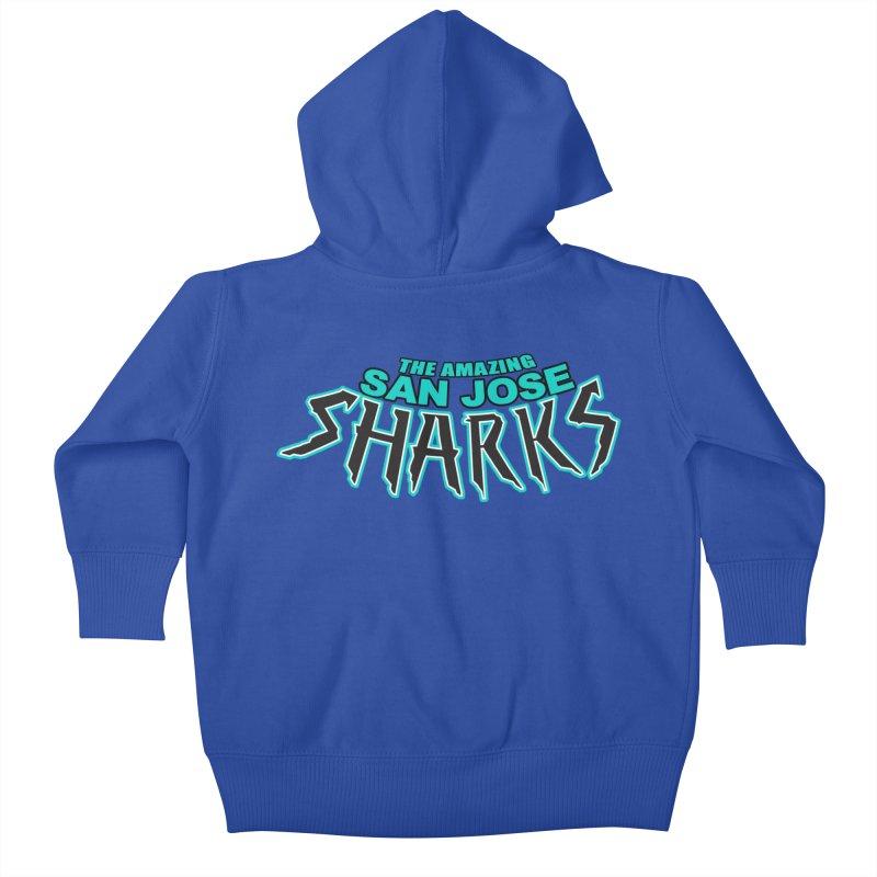 Friendly Neighborhood Sharks Kids Baby Zip-Up Hoody by Mike Hampton's T-Shirt Shop