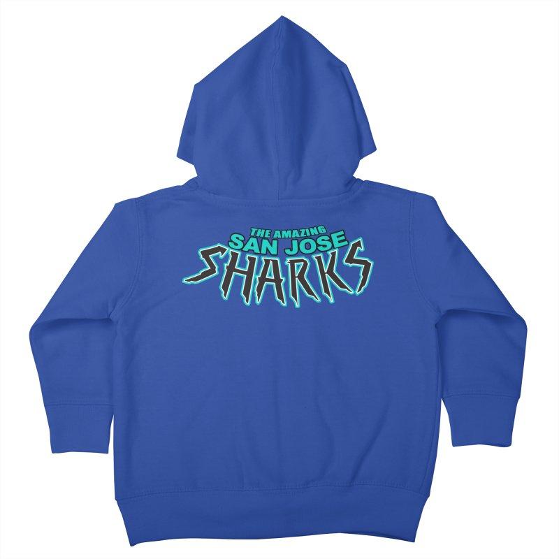 Friendly Neighborhood Sharks Kids Toddler Zip-Up Hoody by Mike Hampton's T-Shirt Shop