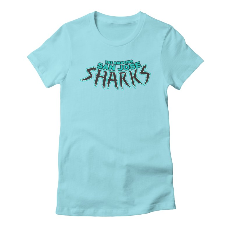 Friendly Neighborhood Sharks Women's Fitted T-Shirt by Mike Hampton's T-Shirt Shop