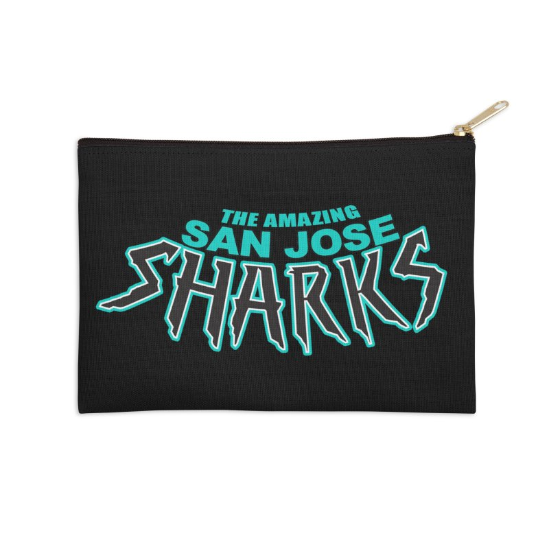 Friendly Neighborhood Sharks Accessories Zip Pouch by Mike Hampton's T-Shirt Shop