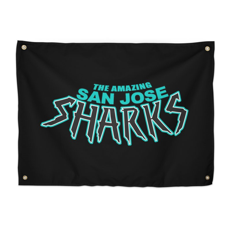Friendly Neighborhood Sharks Home Tapestry by Mike Hampton's T-Shirt Shop