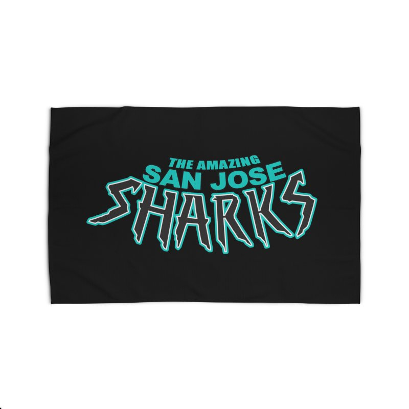 Friendly Neighborhood Sharks Home Rug by Mike Hampton's T-Shirt Shop