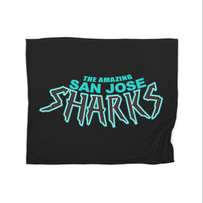 Friendly Neighborhood Sharks Home Blanket by Mike Hampton's T-Shirt Shop