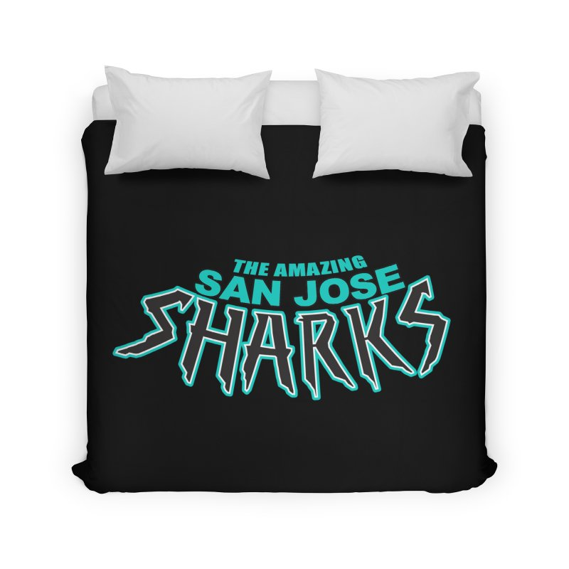 Friendly Neighborhood Sharks Home Duvet by Mike Hampton's T-Shirt Shop