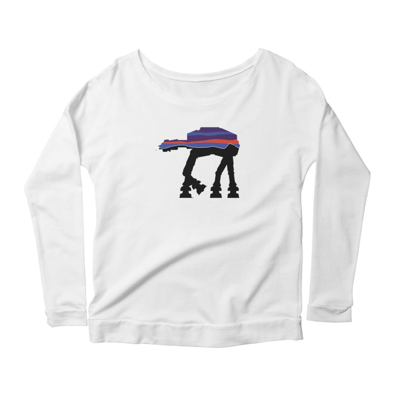 Where ya At-At? Women's Longsleeve Scoopneck  by Mike Hampton's T-Shirt Shop