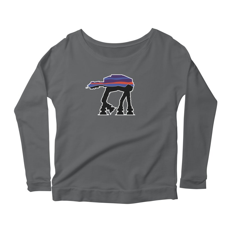 Where ya At-At? Women's Scoop Neck Longsleeve T-Shirt by Mike Hampton's T-Shirt Shop
