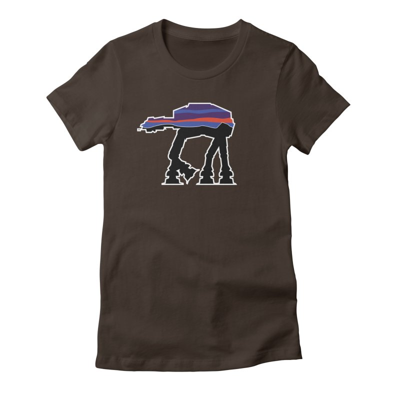 Where ya At-At? Women's Fitted T-Shirt by Mike Hampton's T-Shirt Shop