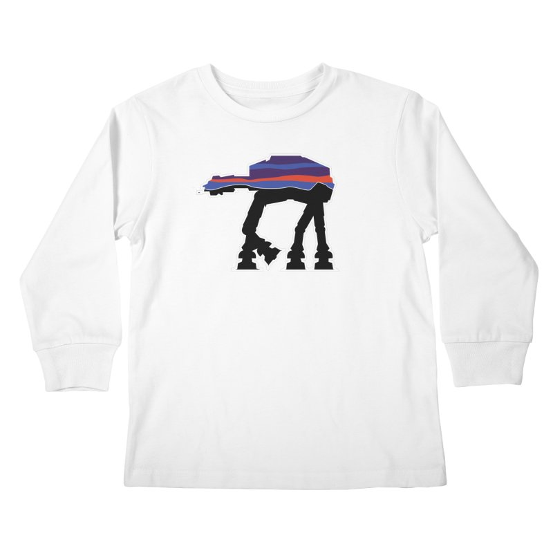 Where ya At-At? Kids Longsleeve T-Shirt by Mike Hampton's T-Shirt Shop