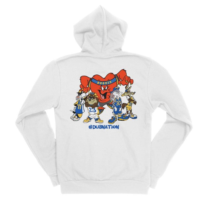 DubNation Squad Men's Sponge Fleece Zip-Up Hoody by Mike Hampton's T-Shirt Shop