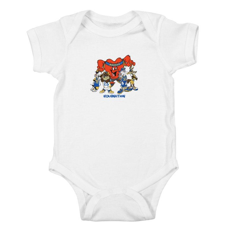 DubNation Squad Kids Baby Bodysuit by Mike Hampton's T-Shirt Shop