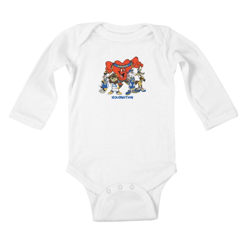 DubNation Squad Kids Baby Longsleeve Bodysuit by Mike Hampton's T-Shirt Shop