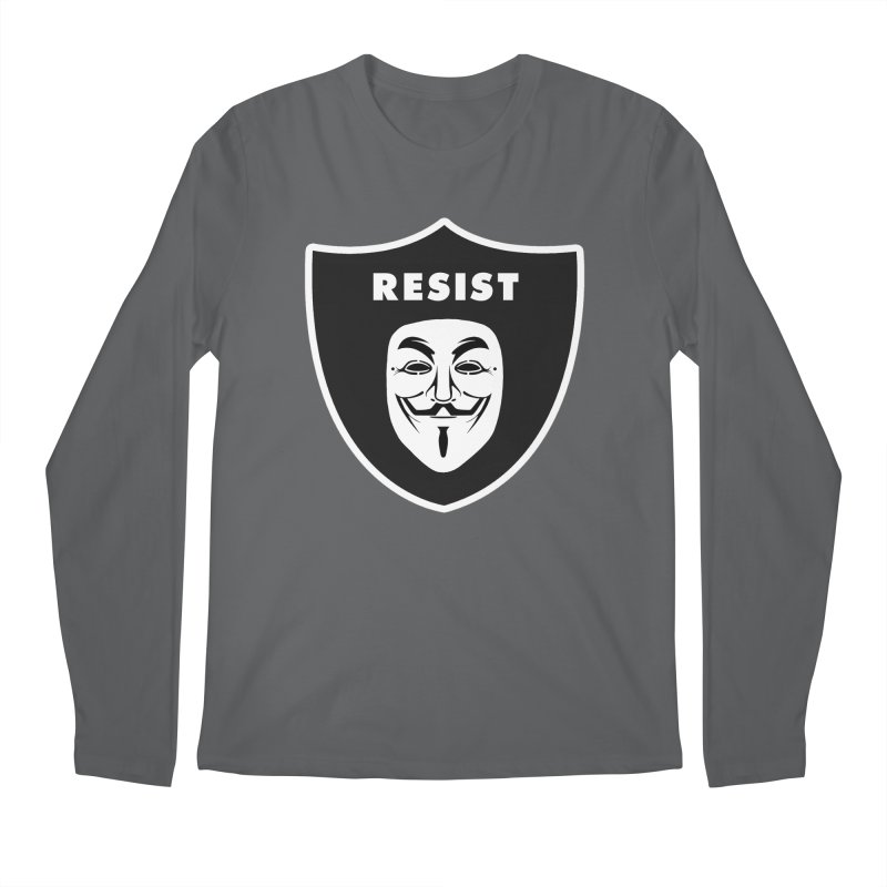 Resist Men's Regular Longsleeve T-Shirt by Mike Hampton's T-Shirt Shop