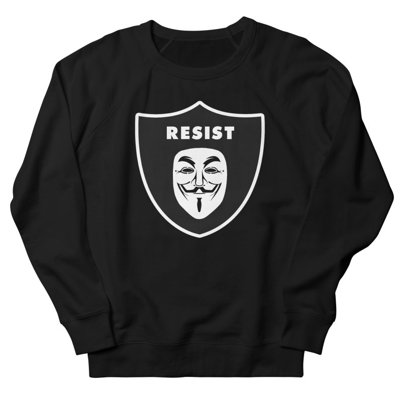 Resist Men's French Terry Sweatshirt by Mike Hampton's T-Shirt Shop