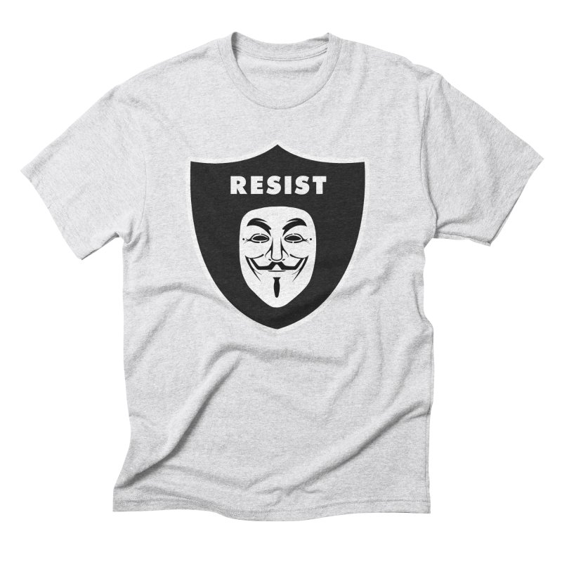 Resist Men's Triblend T-Shirt by Mike Hampton's T-Shirt Shop