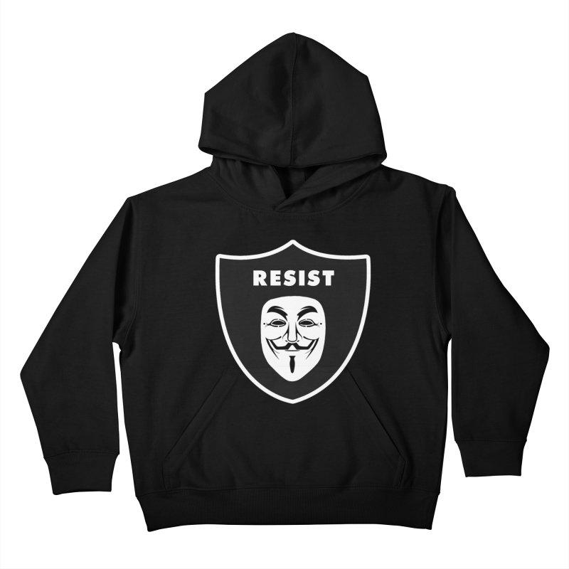 Resist Kids Pullover Hoody by Mike Hampton's T-Shirt Shop