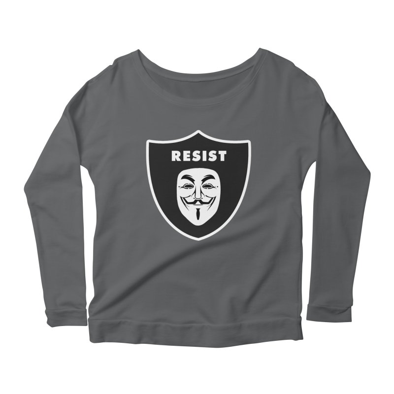 Resist Women's Scoop Neck Longsleeve T-Shirt by Mike Hampton's T-Shirt Shop