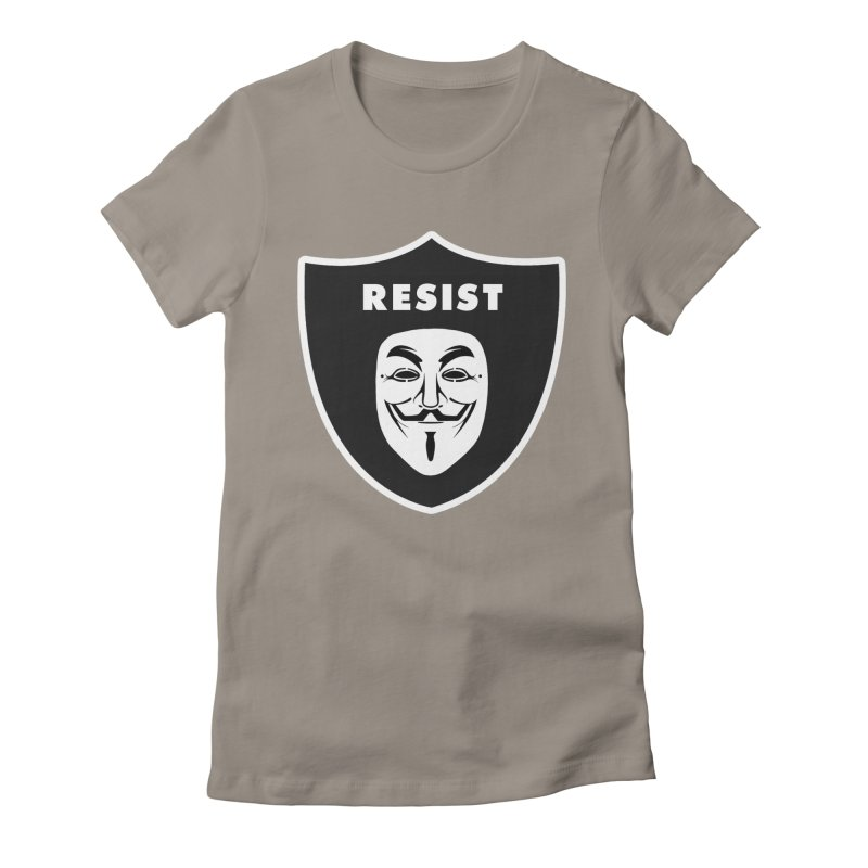 Resist Women's Fitted T-Shirt by Mike Hampton's T-Shirt Shop