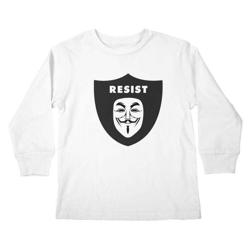 Resist Kids Longsleeve T-Shirt by Mike Hampton's T-Shirt Shop