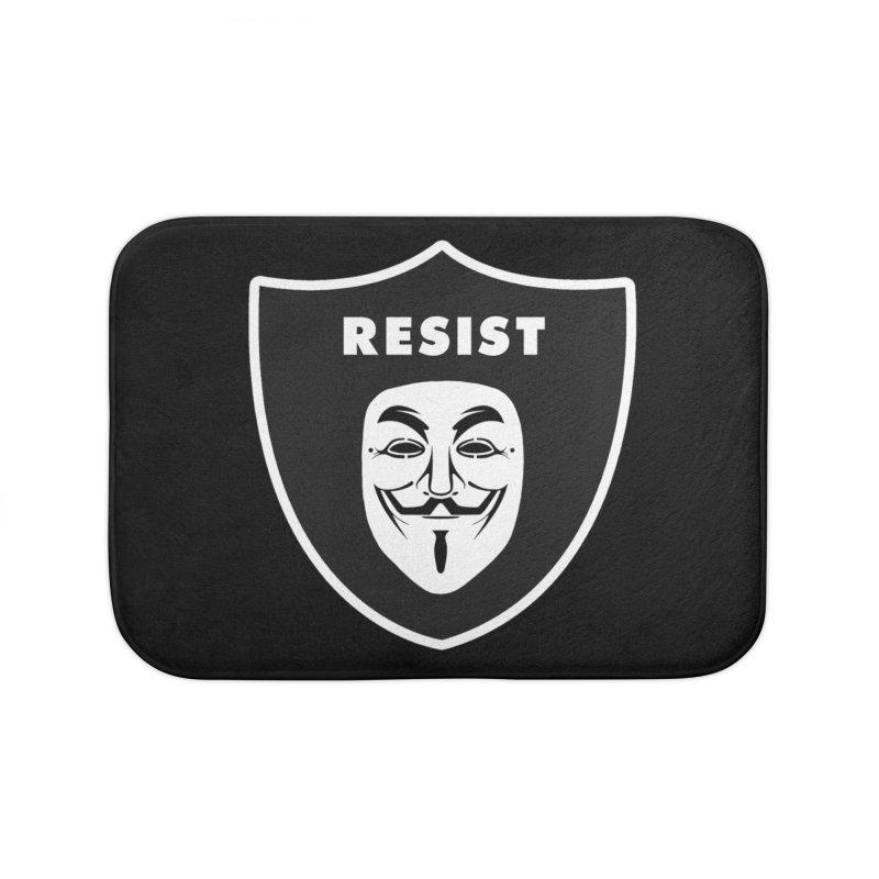 Resist Home Bath Mat by Mike Hampton's T-Shirt Shop