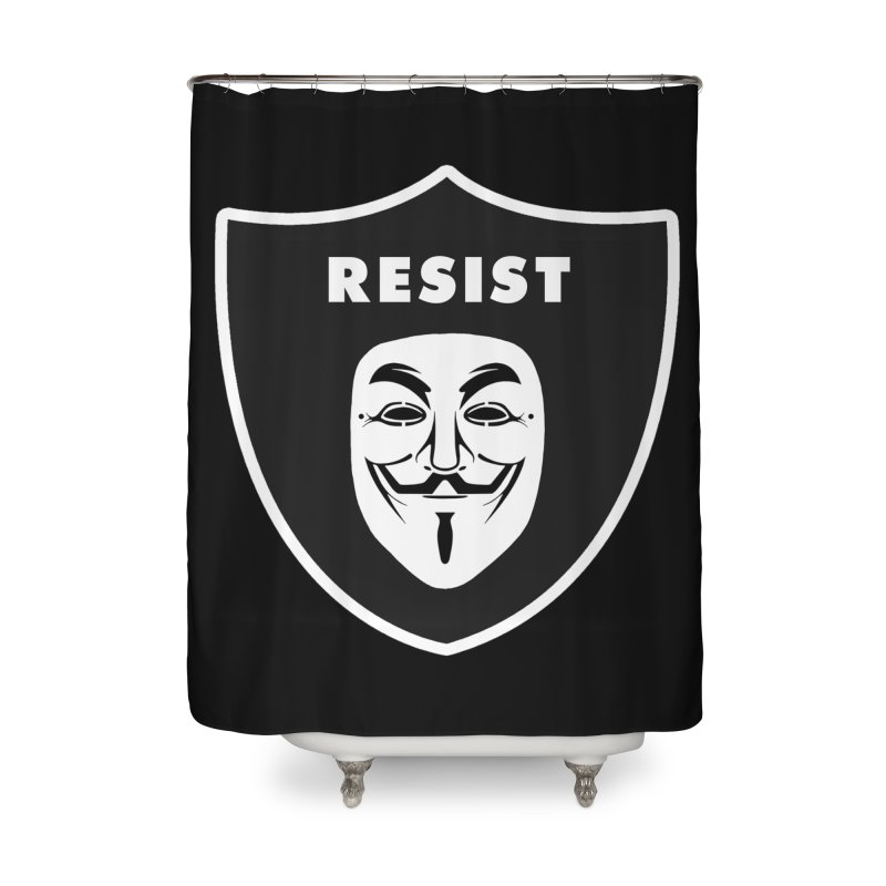 Resist Home Shower Curtain by Mike Hampton's T-Shirt Shop