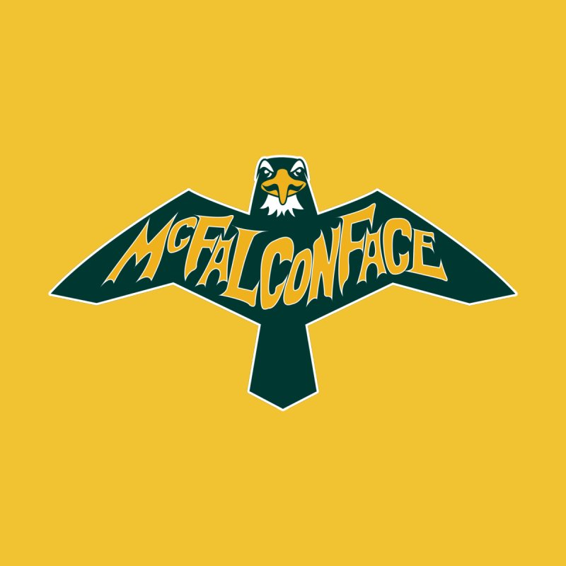 Falcon McFalconface Men's V-Neck by Mike Hampton's T-Shirt Shop