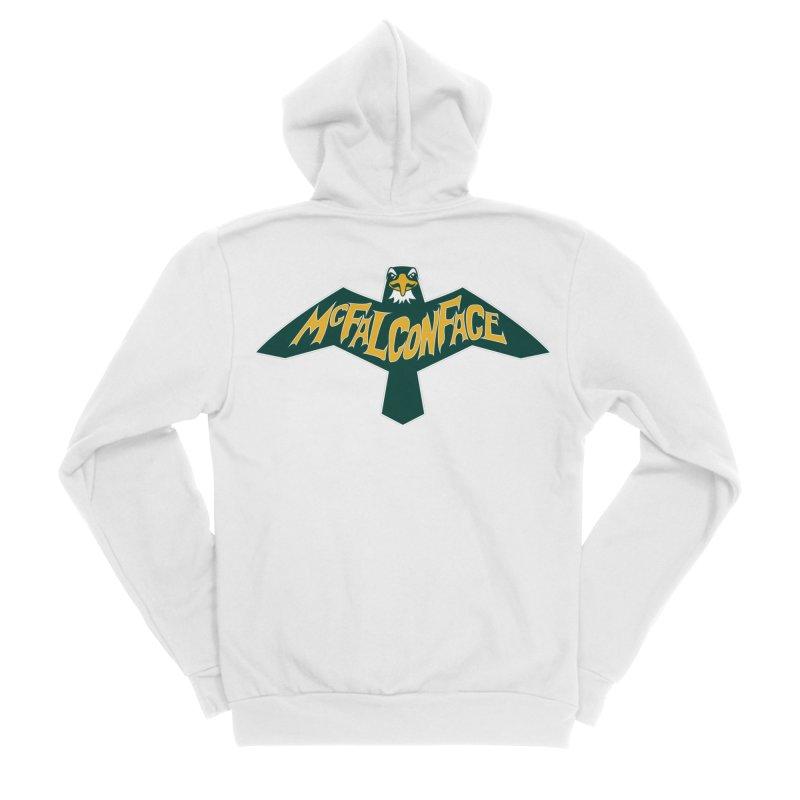 Falcon McFalconface Men's Sponge Fleece Zip-Up Hoody by Mike Hampton's T-Shirt Shop