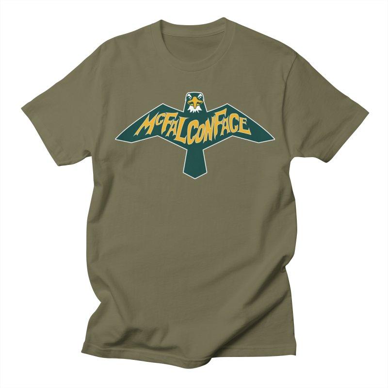 Falcon McFalconface Men's Regular T-Shirt by Mike Hampton's T-Shirt Shop