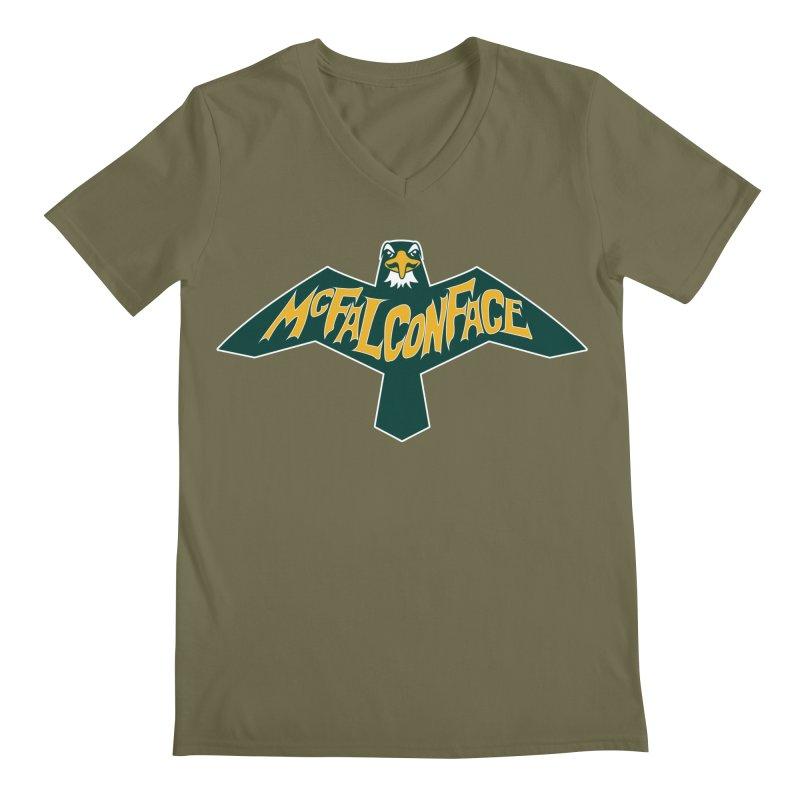 Falcon McFalconface Men's Regular V-Neck by Mike Hampton's T-Shirt Shop