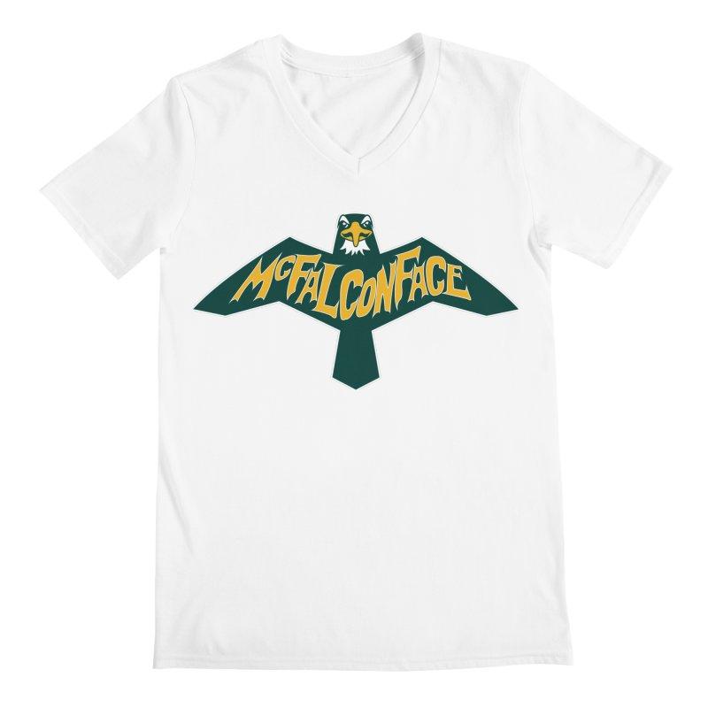 Falcon McFalconface Men's V-Neck by Mike Hampton's T-Shirt Shop