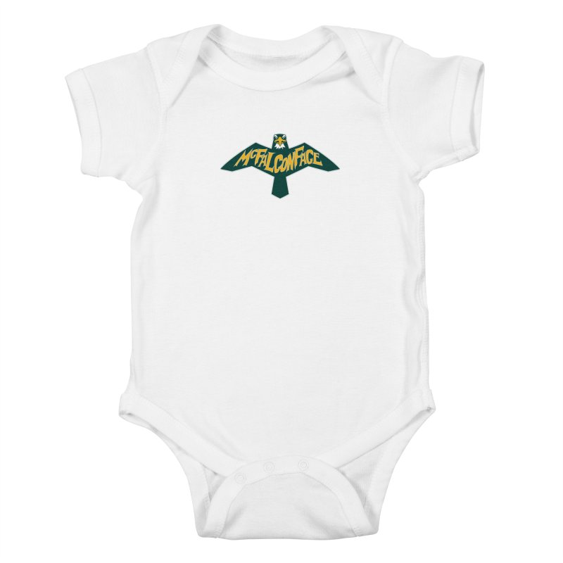 Falcon McFalconface Kids Baby Bodysuit by Mike Hampton's T-Shirt Shop