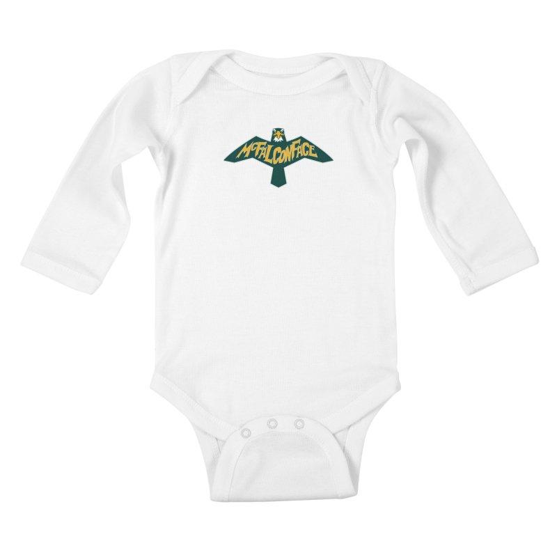 Falcon McFalconface Kids Baby Longsleeve Bodysuit by Mike Hampton's T-Shirt Shop