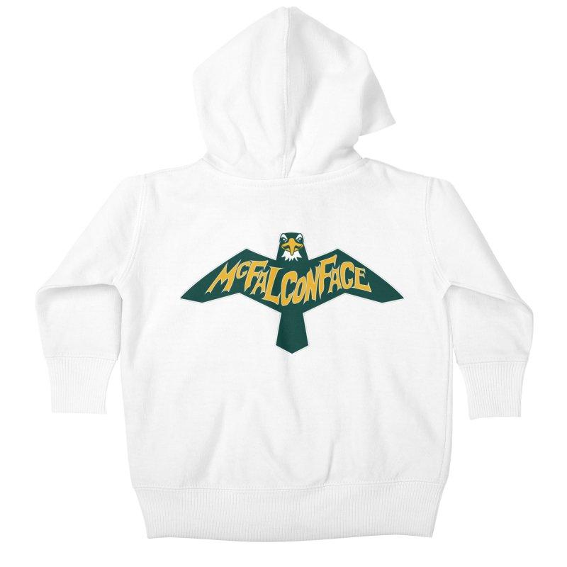 Falcon McFalconface Kids Baby Zip-Up Hoody by Mike Hampton's T-Shirt Shop