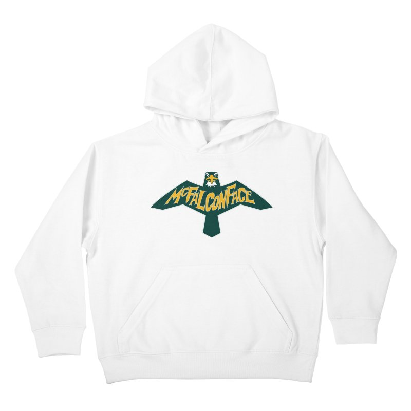 Falcon McFalconface Kids Pullover Hoody by Mike Hampton's T-Shirt Shop