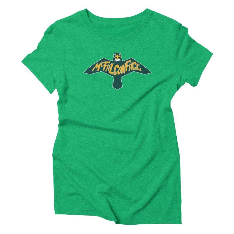 Falcon McFalconface Women's Triblend T-Shirt by Mike Hampton's T-Shirt Shop