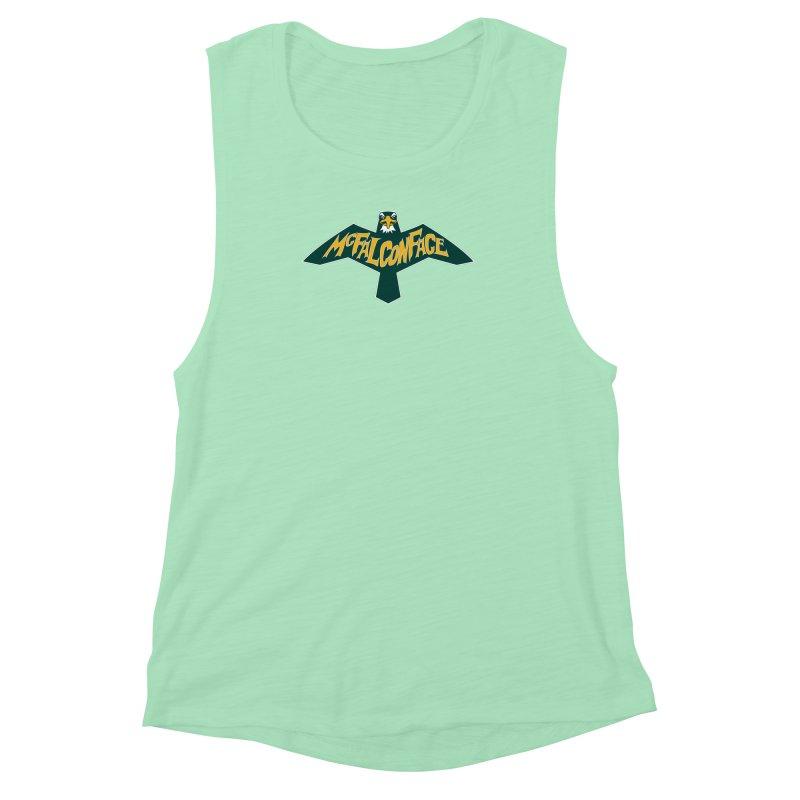 Falcon McFalconface Women's Muscle Tank by Mike Hampton's T-Shirt Shop
