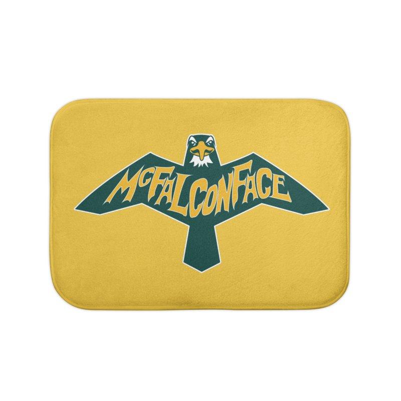 Falcon McFalconface Home Bath Mat by Mike Hampton's T-Shirt Shop