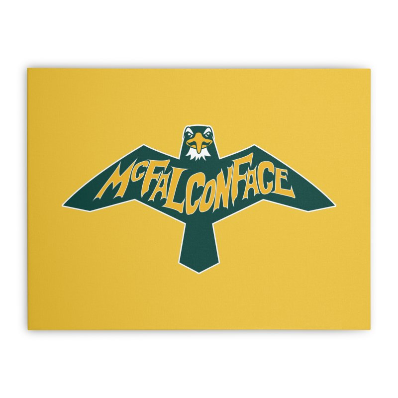Falcon McFalconface Home Stretched Canvas by Mike Hampton's T-Shirt Shop