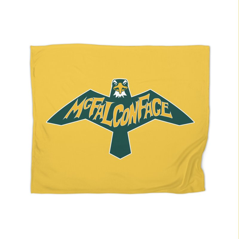Falcon McFalconface Home Blanket by Mike Hampton's T-Shirt Shop