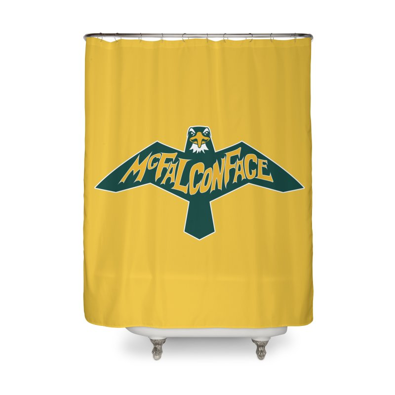 Falcon McFalconface Home Shower Curtain by Mike Hampton's T-Shirt Shop