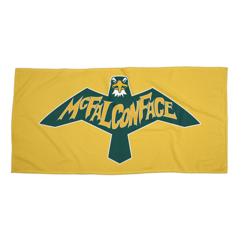 Falcon McFalconface Accessories Beach Towel by Mike Hampton's T-Shirt Shop