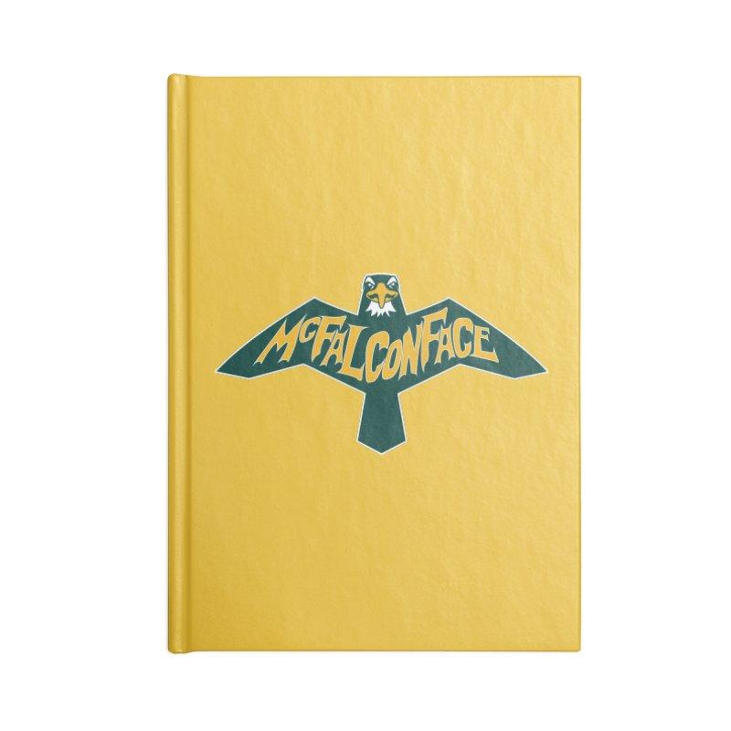 Falcon McFalconface Accessories Notebook by Mike Hampton's T-Shirt Shop