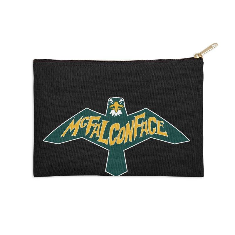 Falcon McFalconface Accessories Zip Pouch by Mike Hampton's T-Shirt Shop
