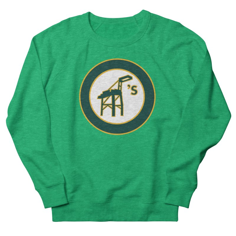 Oakland's Women's French Terry Sweatshirt by Mike Hampton's T-Shirt Shop