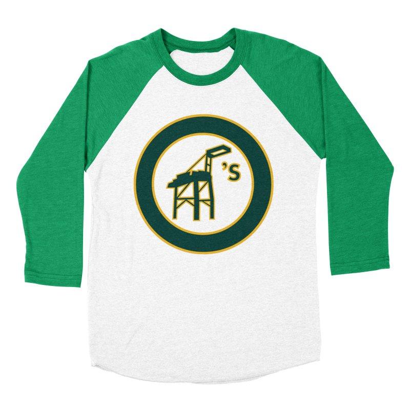Oakland's Women's Baseball Triblend Longsleeve T-Shirt by Mike Hampton's T-Shirt Shop