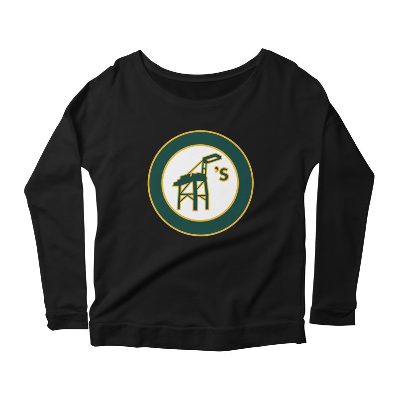 Oakland's Women's Scoop Neck Longsleeve T-Shirt by Mike Hampton's T-Shirt Shop