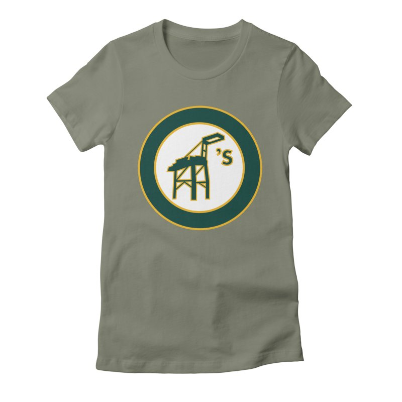 Oakland's Women's Fitted T-Shirt by Mike Hampton's T-Shirt Shop
