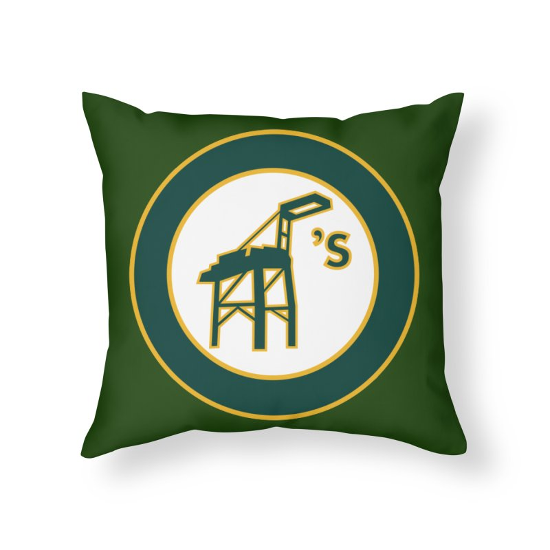 Oakland's Home Throw Pillow by Mike Hampton's T-Shirt Shop