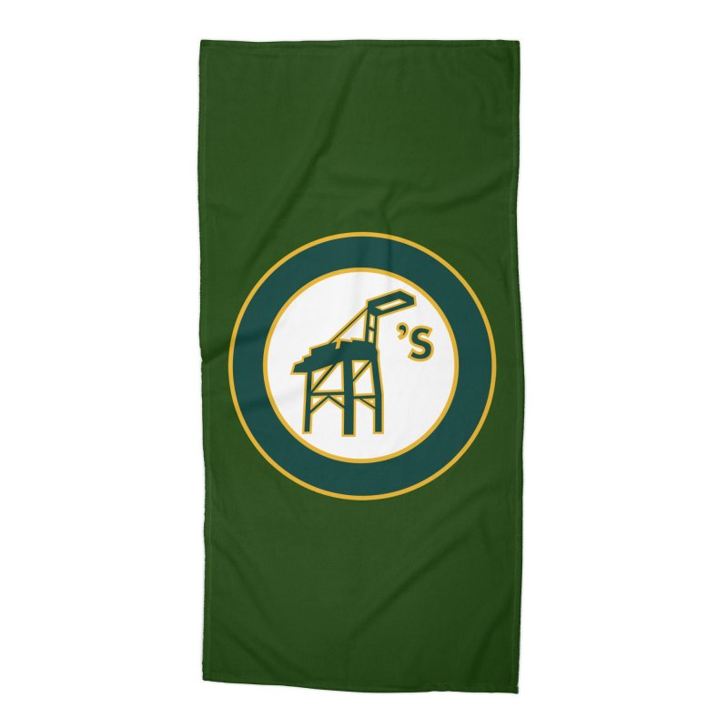 Oakland's Accessories Beach Towel by Mike Hampton's T-Shirt Shop
